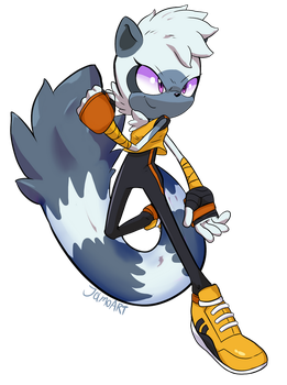 TANGLE THE LEMUR by JamoART