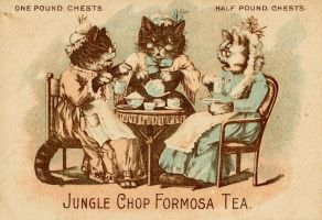 Victorian Advertising - Kitt-tea Party by Yesterdays-Paper
