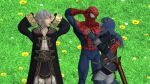 Robin, Spider-Man (Peter) and Lucina resting by kongzillarex619