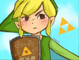 Toon Link (REMAKE) by professortriton