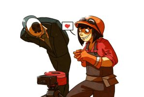 .:Team fortress and spy:. by Metay