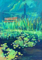 The frog pond by Komar4