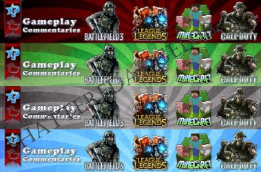 Banners for a YouTuber - 1 by ShatteredAngel08