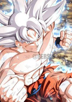 Goku Ultra Instinct by Sersiso