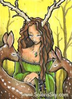 Spirit of the Wood ACEO by SashaFitzgerald