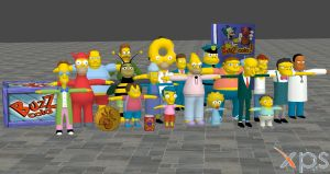 The Simpsons Hit and Run Model pack 2 For XNALara by user619