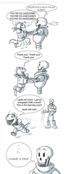 Papyrus's New Fan:  Part 3 of 3 by AbsoluteDream
