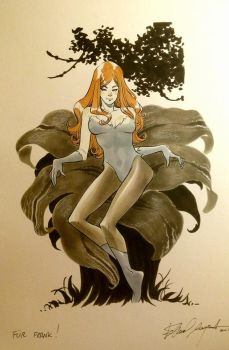 Poison Ivy commission by elena-casagrande