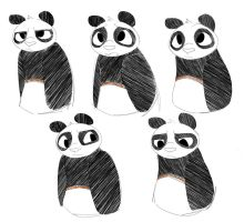 panda expressions by LittleChaCha