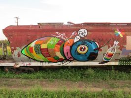 trains by feik-graffiti