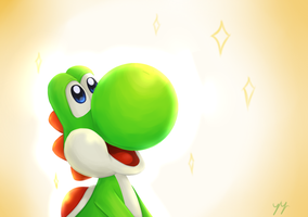 Yoshi Speed Paint by CosmikArts