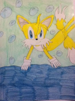 Tails Underwater 4 by tailsthefoxlover715