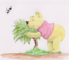 Pooh Bear in Watercolor by Steven-Powers-SMP