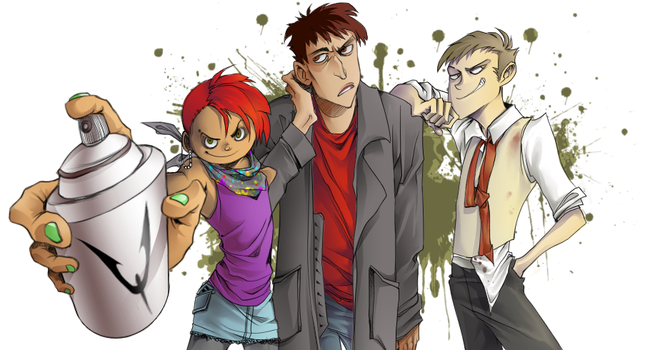 Sid, Sawyer, and Oliver by Kyasarin-angel