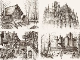 Fantasy Architecture by GrimDreamArt