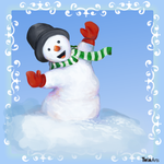 Happy Snowman by Maybellez