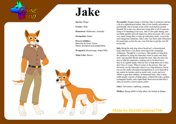 Canine Squad Ref. Sheet: Jake by DarthGoldstar710