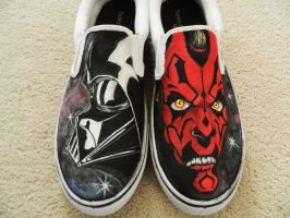 Darth Maul and Vader shoes by BreannaKayEvans