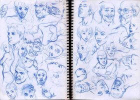 faces sketches 03 by pansica