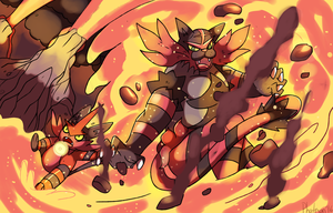 Torracat and Beltigre used Surf