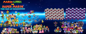 Mario and Luigi VS Paper Mario War of Dimensions by ScilacticonGalaxy