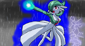 Sana the Gardevoir -iScribble- by leafbarrett