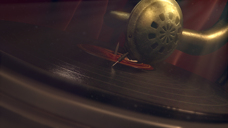 Final Render CG Antique Gramophone 05 by BethsFienneArt