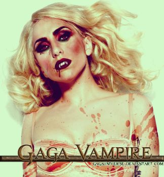 Her kiss is a vampire grin by gagauniverse