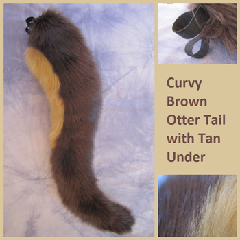 Curvy Brown Otter Tail with Tan Under by Lascivus-Lutra