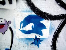 Sonic Stencil by UpaUpa