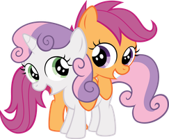 Sweetie Belle and Scootaloo by qazwsxedc15