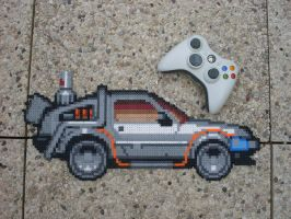 Back to the Future - De Lorean Perler Bead Sprite by BigBossFF