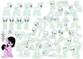 My Little Pony: Tutorial (poses) - part 1 by ByPanda