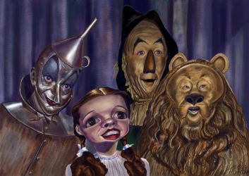 Wizard of Oz cast caricature by Caricature80
