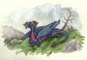 Blue Mountain Dragon by Psydrache