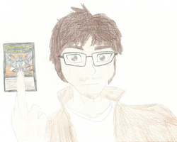 Self-portrait in Yu-Gi-Oh! Style by XBrain130