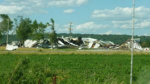 EF-2 Warehouse Damage, Pacific Junction, IA, 06-16 by WxKnowltey
