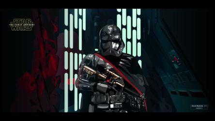 Captain Phasma - STAR WARS The Force Awakens by Vanishin