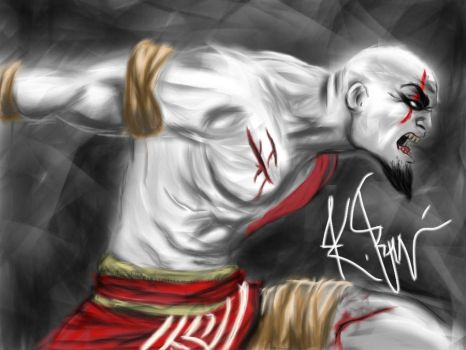 Kratos is Angry by KarateSchnitzel