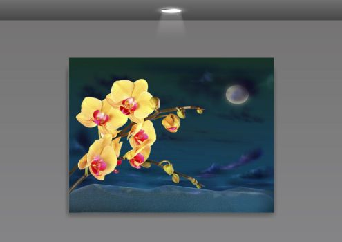 Orchid Frame PSD by wsaconato