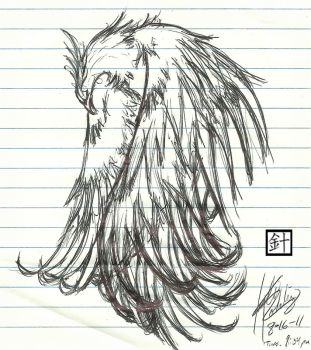 Phoenix Sketch by blood-of-the-bush