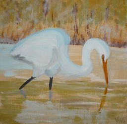 Egretta alba by creatreedesign