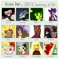2013 Art Summary by LuckyNothin