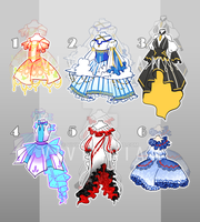 [OPEN 4/6] Adoptable Outfits Batch #1 by Vivinnian