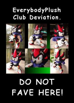 Shadow the Hedgehog Plush by EverybodyPlush