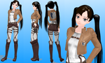 MMD model  96 Attack of the titans by NekaSan