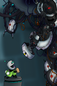 Glados Vs Gir by Bunnygirle26