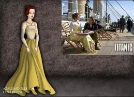 Titanic-Rose's Yellow Deck Gown by EriksAngelOfMusic22
