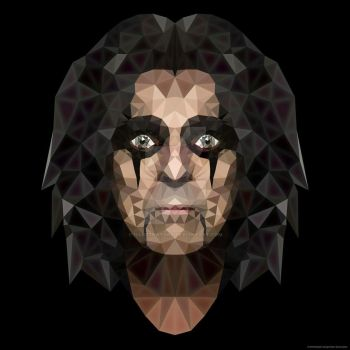 Polygonart Alice Cooper by IllustratorG