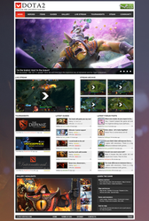 Dota 2 Fansite Template by NicotineLL
